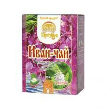Иван-чай ферментированый  копорский с мятой 100г